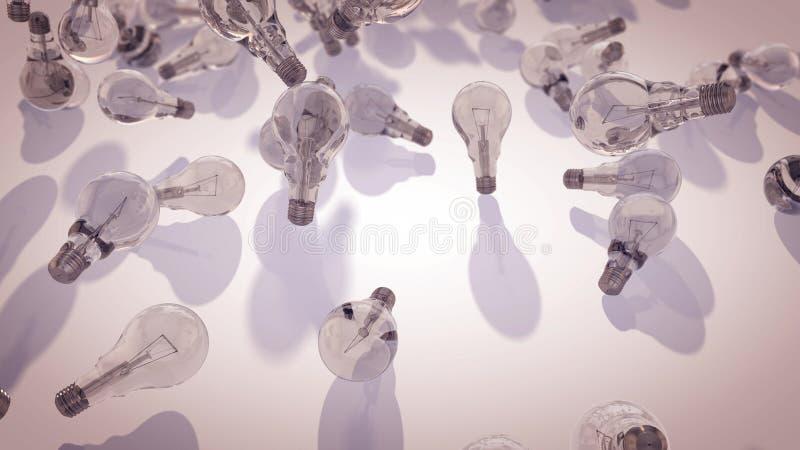 Ampolas transparentes dispersadas ilustração stock