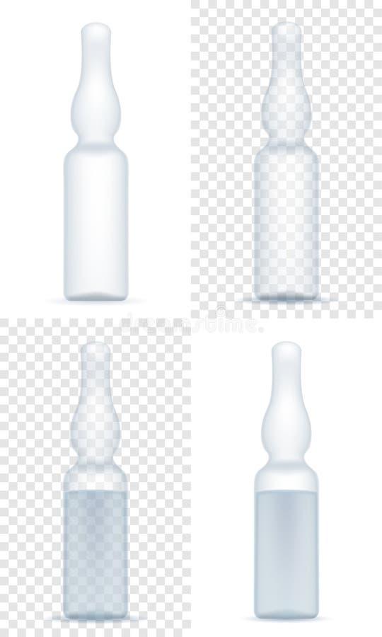 Ampolla médica para el ejemplo del vector de la acción de la inyección ilustración del vector