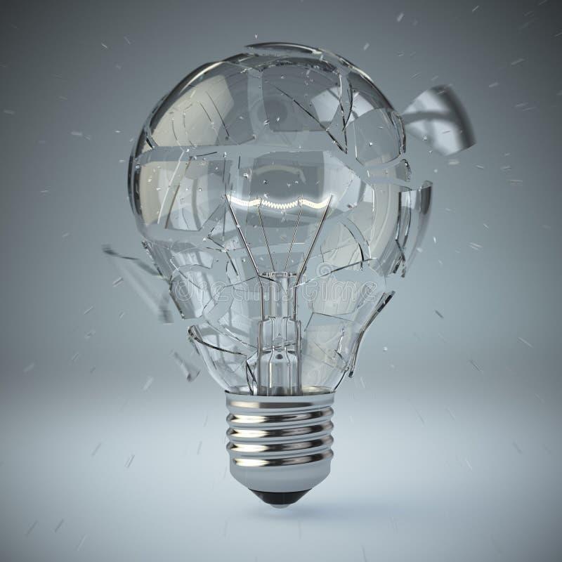 Ampoule éclatant Concept d'idée illustration stock