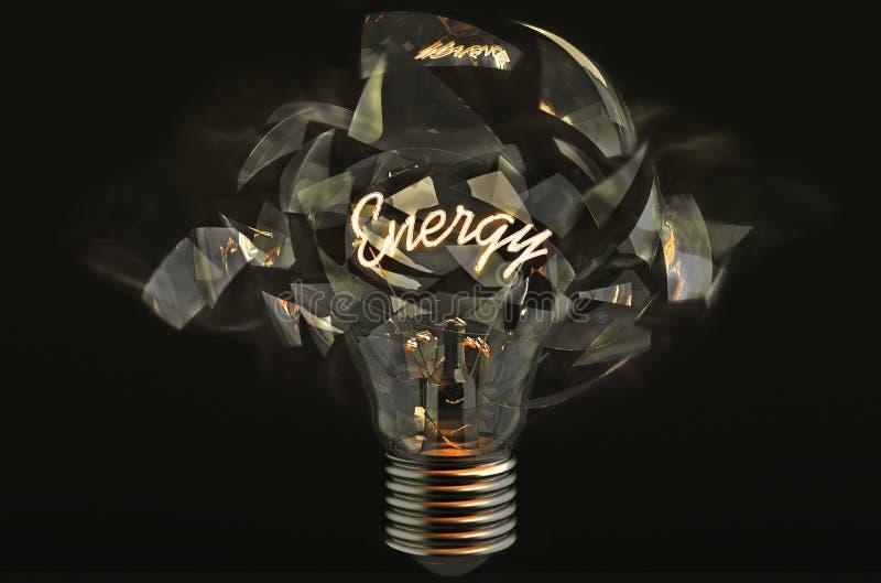 Ampoule éclatante images libres de droits