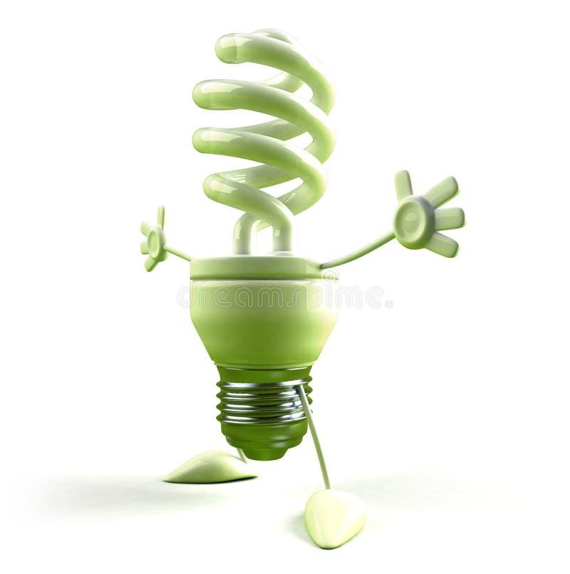 Ampoule économiseuse d'énergie illustration stock