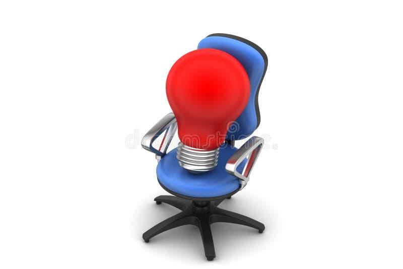 Ampoule avec la chaise illustration stock