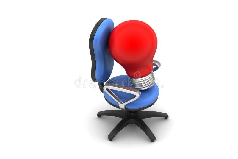 Ampoule avec la chaise illustration libre de droits