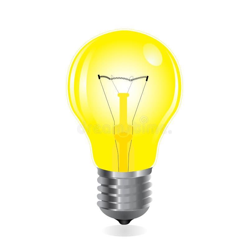 Ampoule avec le filament illustration stock