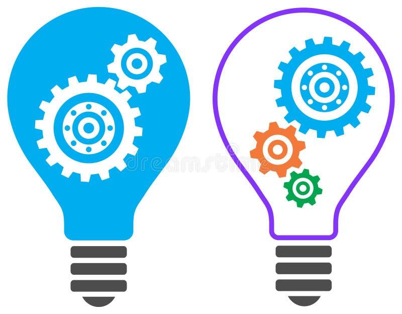Ampoule avec le logo de vitesse illustration libre de droits