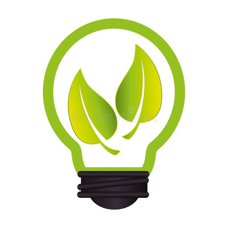 Download Ampoule Avec Le Symbole D'écologie De Feuilles Illustration de Vecteur - Illustration du écologique, soutenable: 87703566