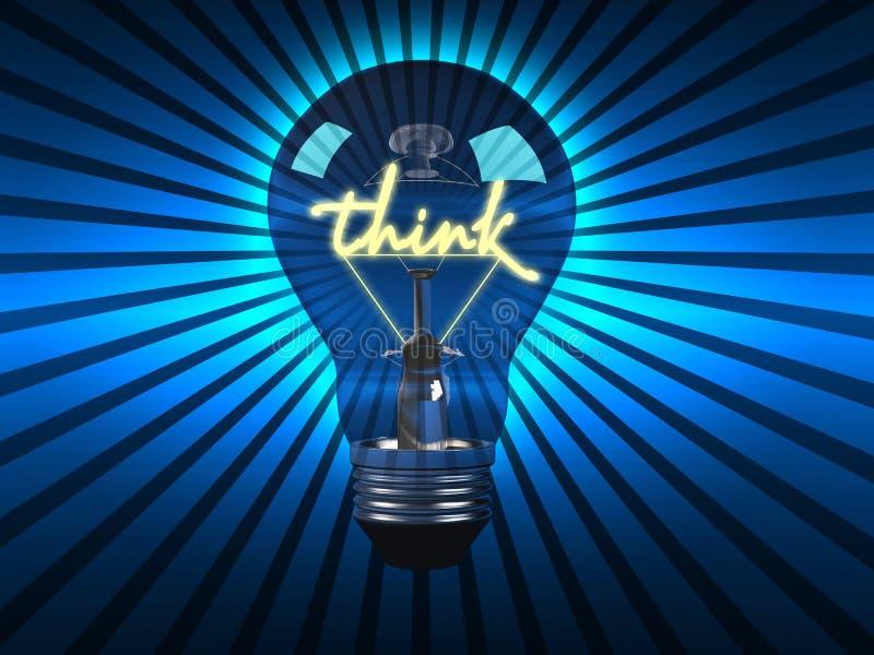 Ampoule avec un concept illustration libre de droits