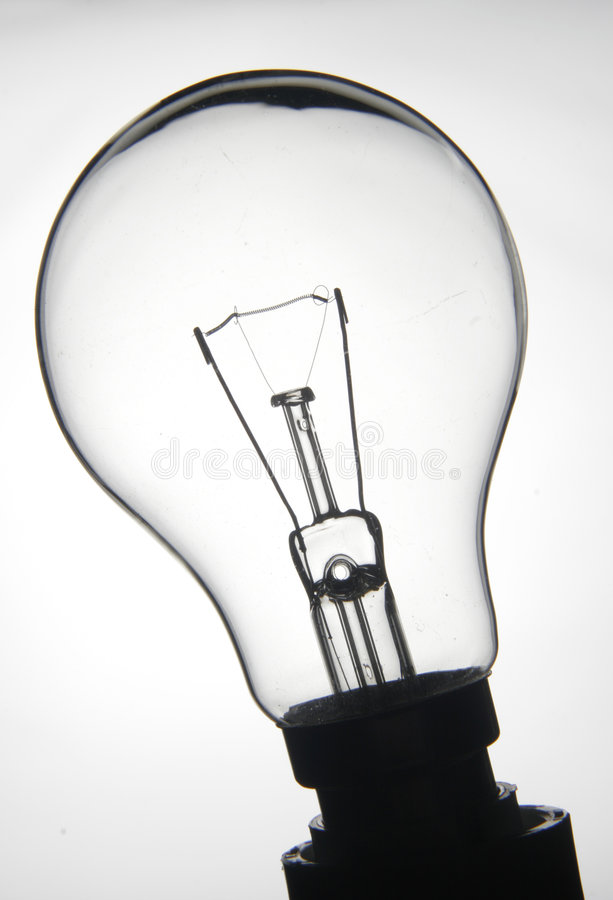 Ampoule blanche photographie stock libre de droits