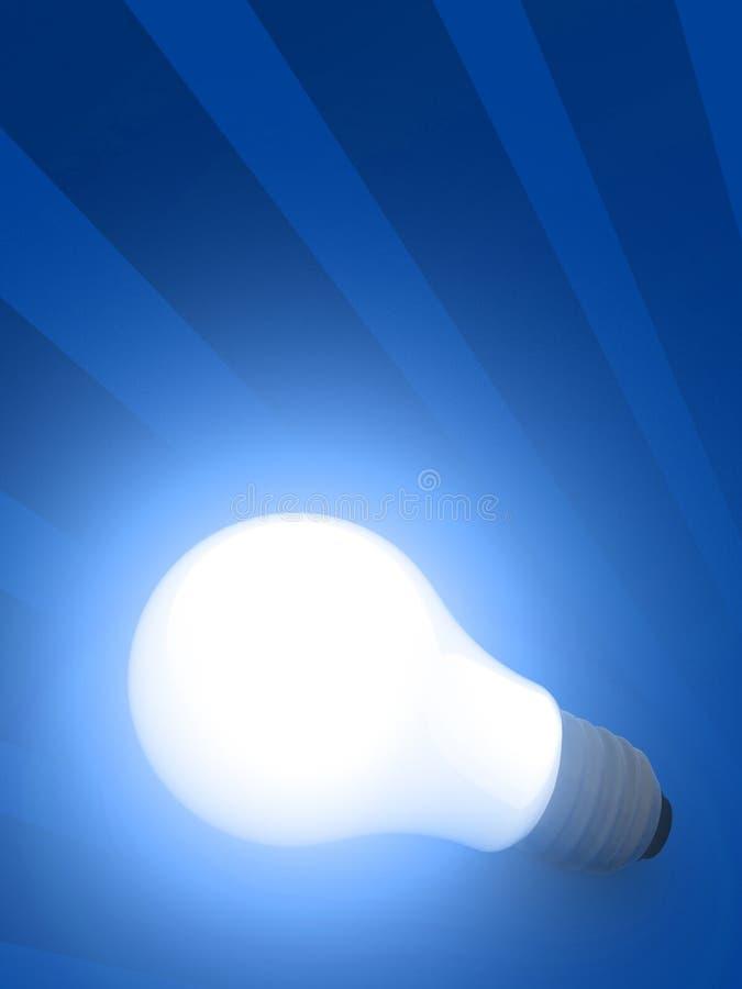 Ampoule blanche rougeoyante illustration libre de droits