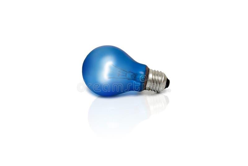Ampoule bleue photo libre de droits