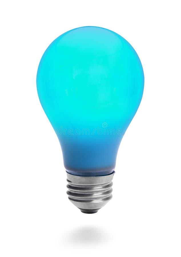 Ampoule bleue images stock