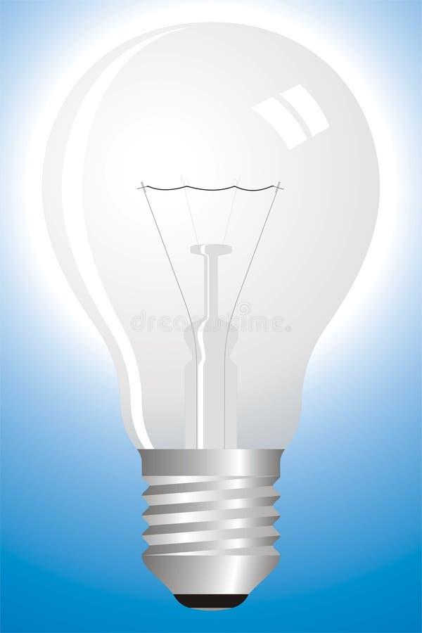 Ampoule claire sur le bleu illustration libre de droits