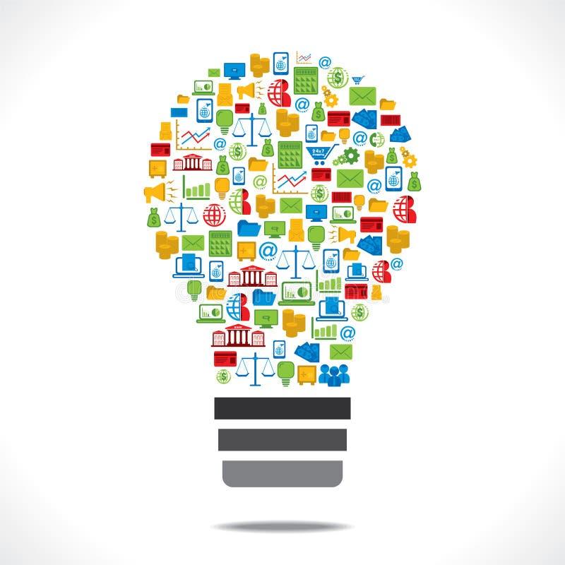 Ampoule créative d'icône d'affaires illustration de vecteur