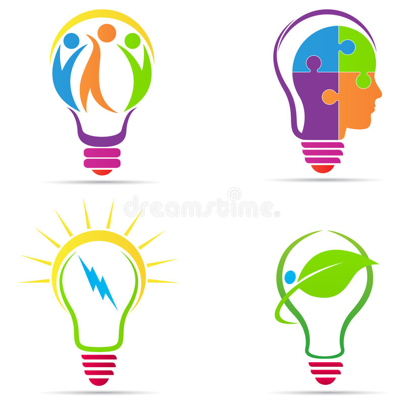 Ampoule créatrice illustration stock