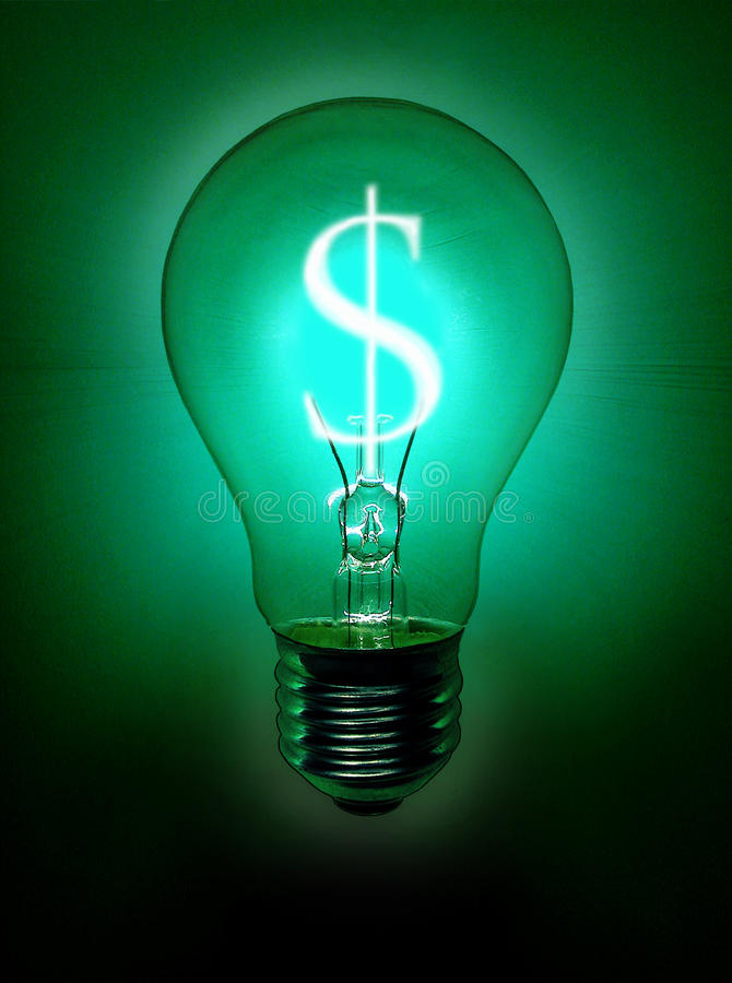 Ampoule d'argent illustration libre de droits
