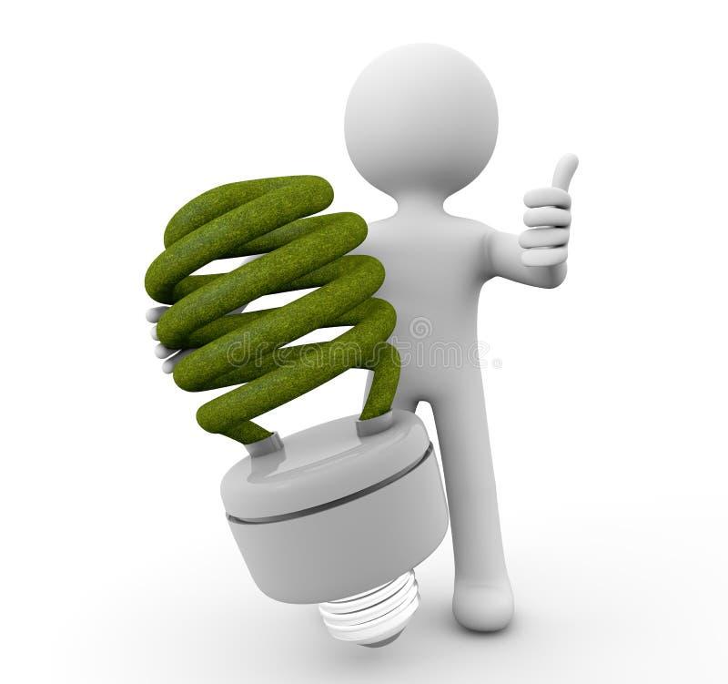 Ampoule d'Eco illustration libre de droits