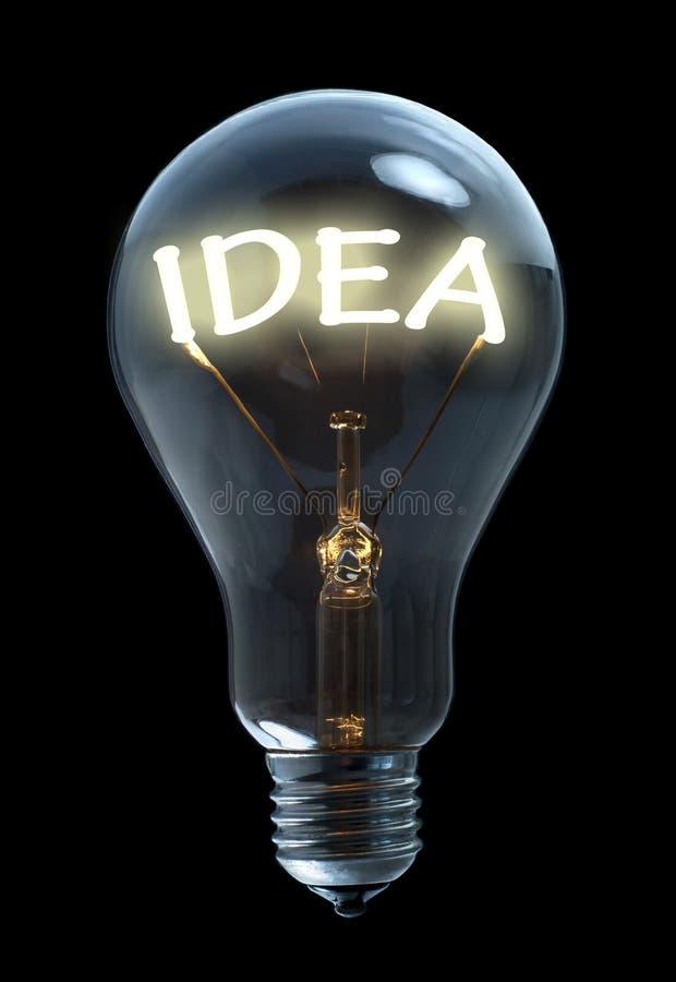 Ampoule d'idée image stock