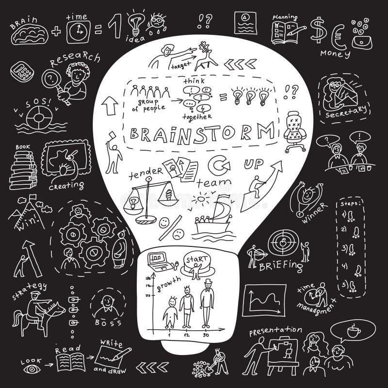 Ampoule d'idée d'affaires illustration de vecteur