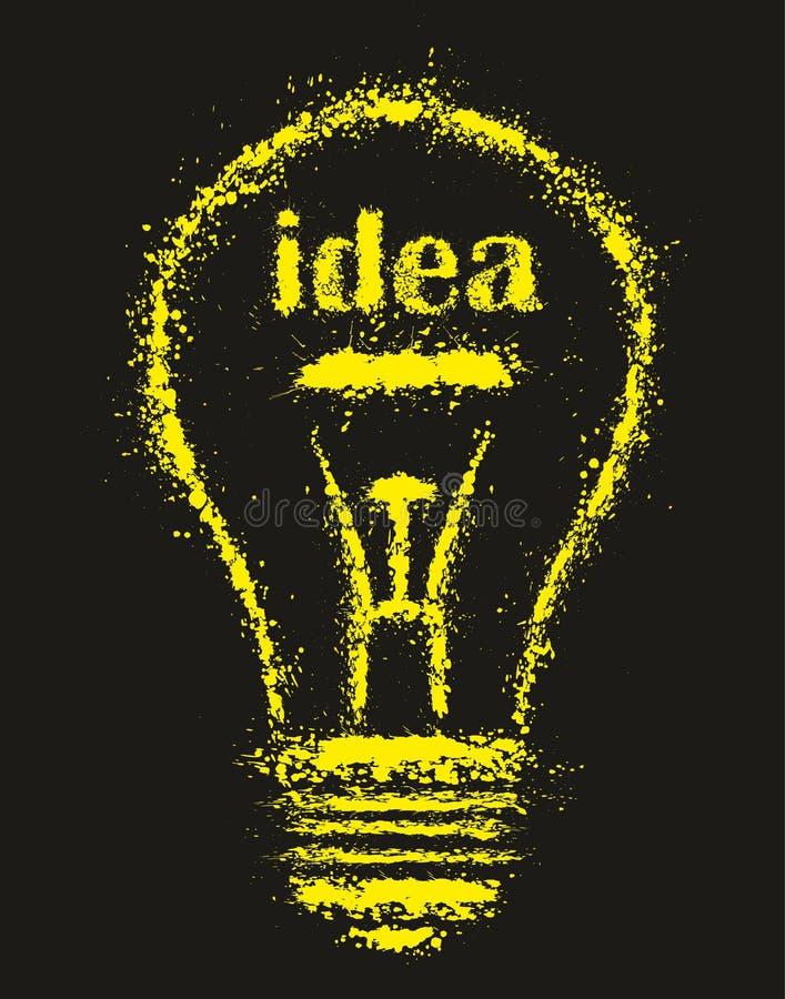 Ampoule D'idée Lumineuse Grunge - Illustration Illustration de Vecteur - Illustration du génie ...