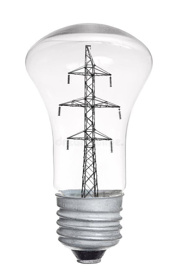 Ampoule d'isolement sur le fond blanc image stock