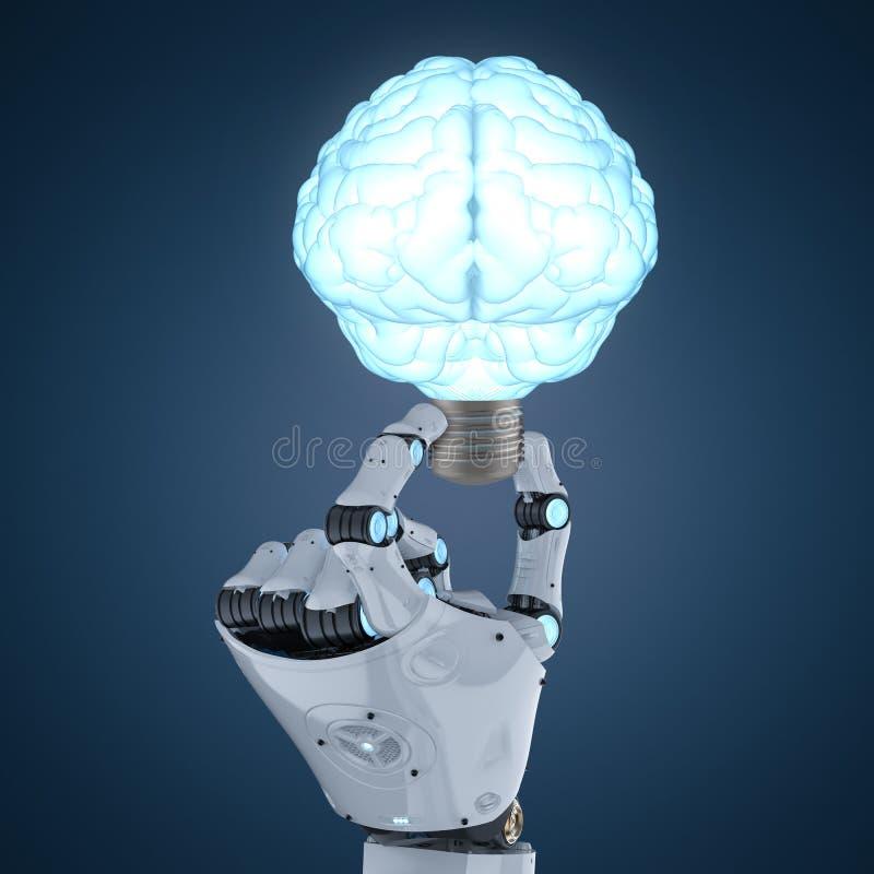 Ampoule dans la forme de cerveau illustration libre de droits