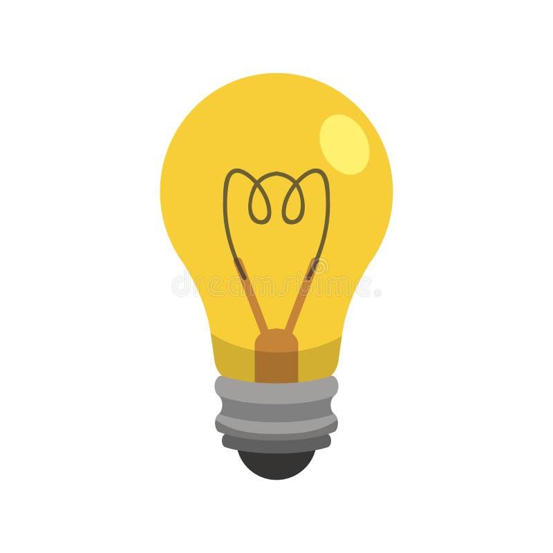 Ampoule dans le style de bande dessinée Illustration d'idée illustration stock