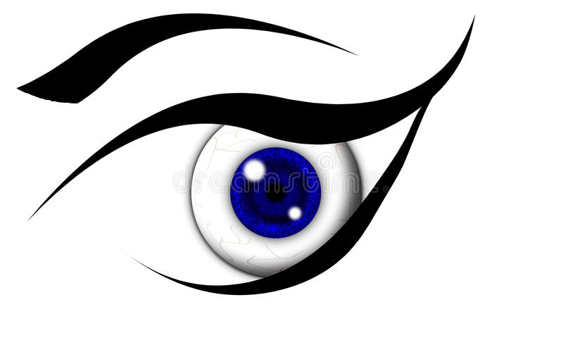 Ampoule de œil bleu illustration de vecteur