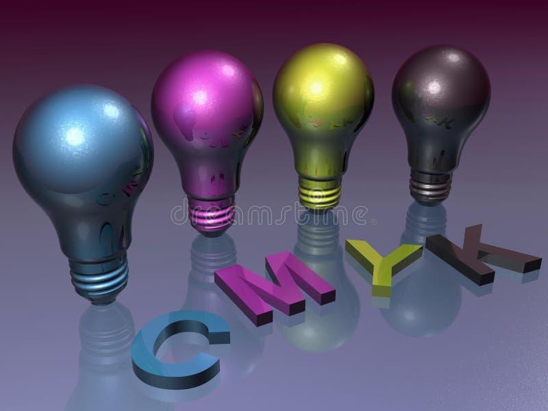 Ampoule de CMYK illustration libre de droits