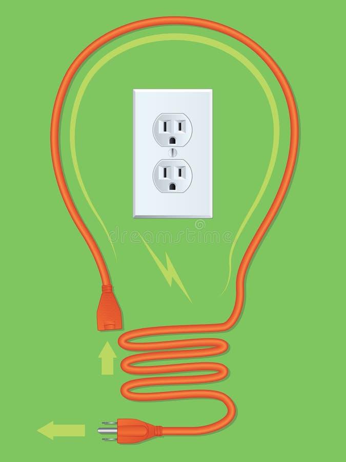 Ampoule de cordon d'extension illustration libre de droits