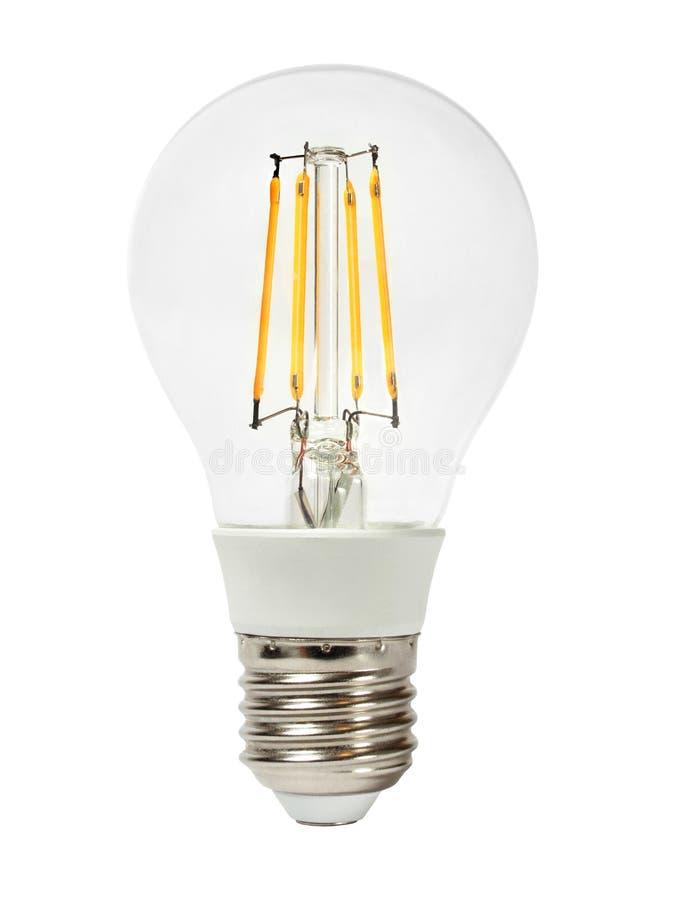 Ampoule de DEL sur le blanc photos libres de droits