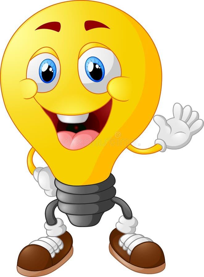 Ampoule de dessin animé illustration de vecteur