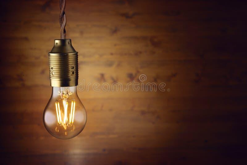 Ampoule de filament de LED photographie stock