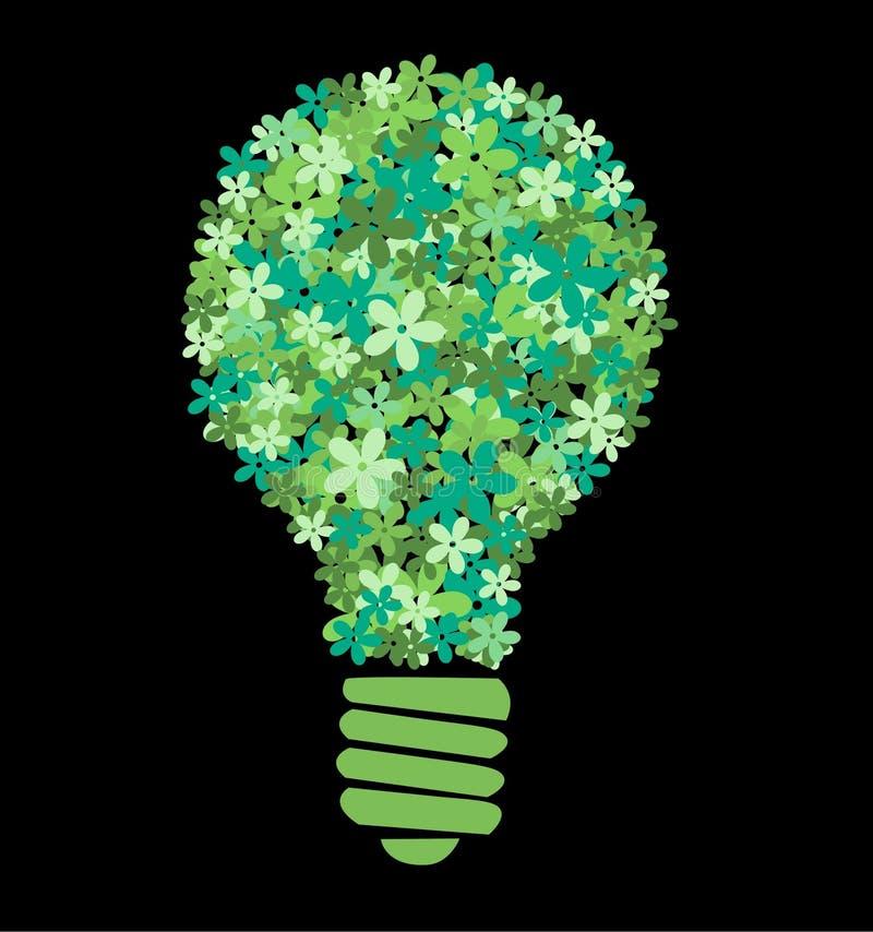 ampoule de fleur verte illustration stock
