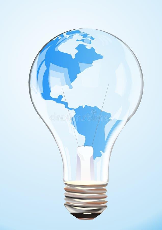 Ampoule de globe de vecteur illustration de vecteur