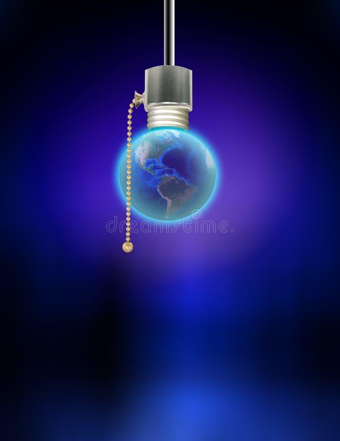 Ampoule de la terre illustration de vecteur