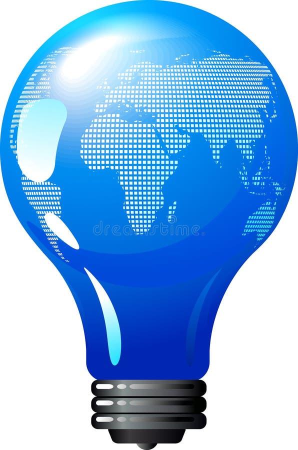 Ampoule de la terre - concept d'énergie d'eco illustration libre de droits