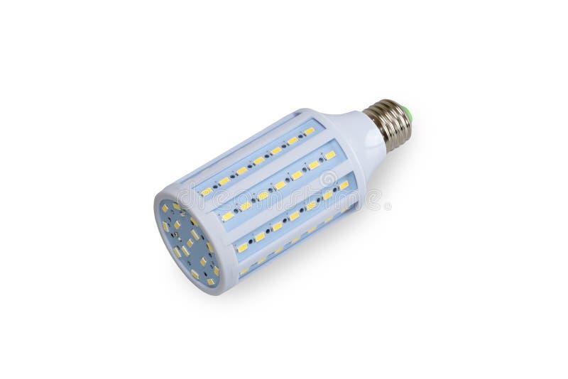 Ampoule de LED d'isolement avec le chemin de coupure image stock