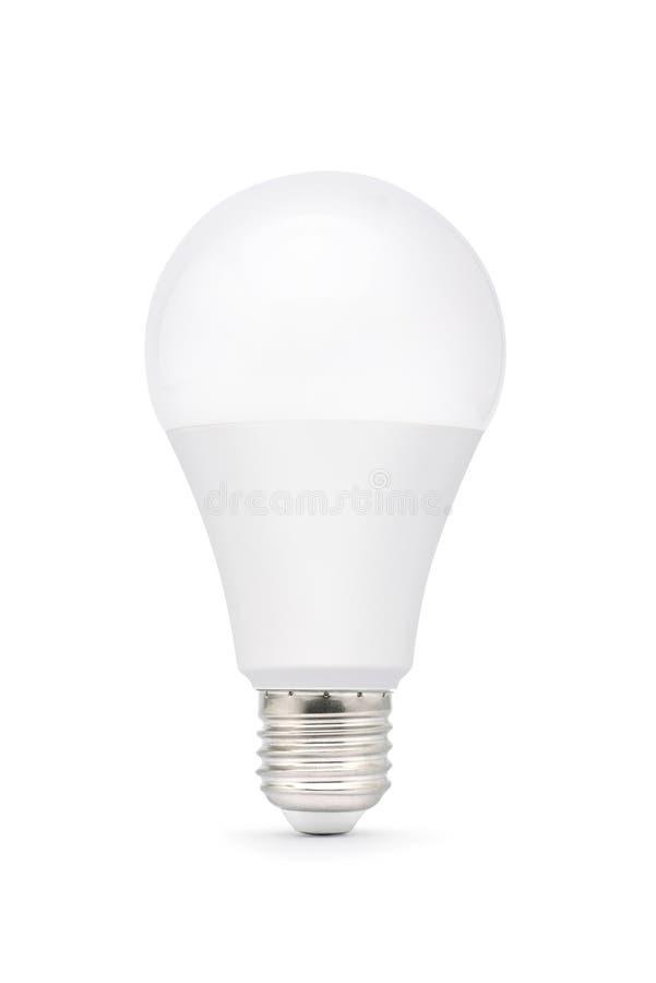 Ampoule de LED d'isolement sur le fond blanc photographie stock libre de droits