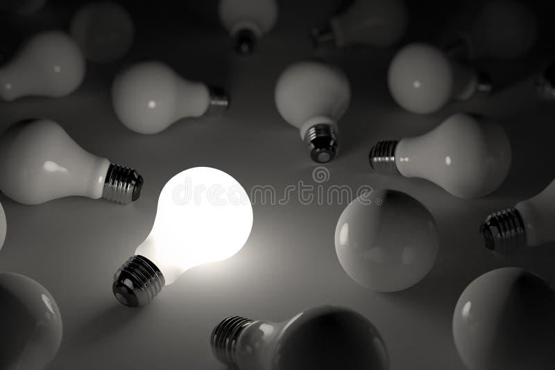 Ampoule de Lit illustration stock