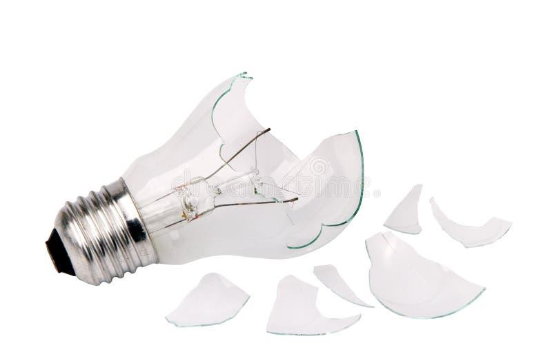 Ampoule de ménage cassé photo stock