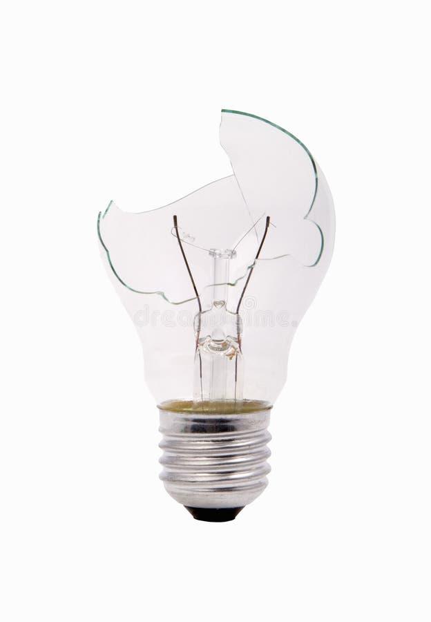 Ampoule de ménage cassé photos stock