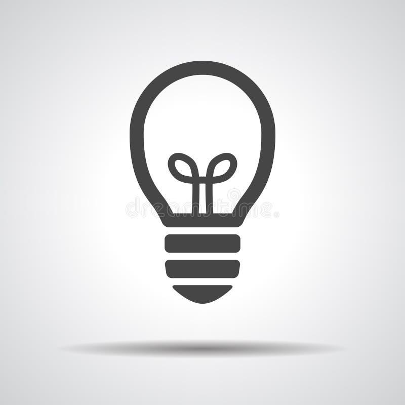 Ampoule de noir mat illustration de vecteur