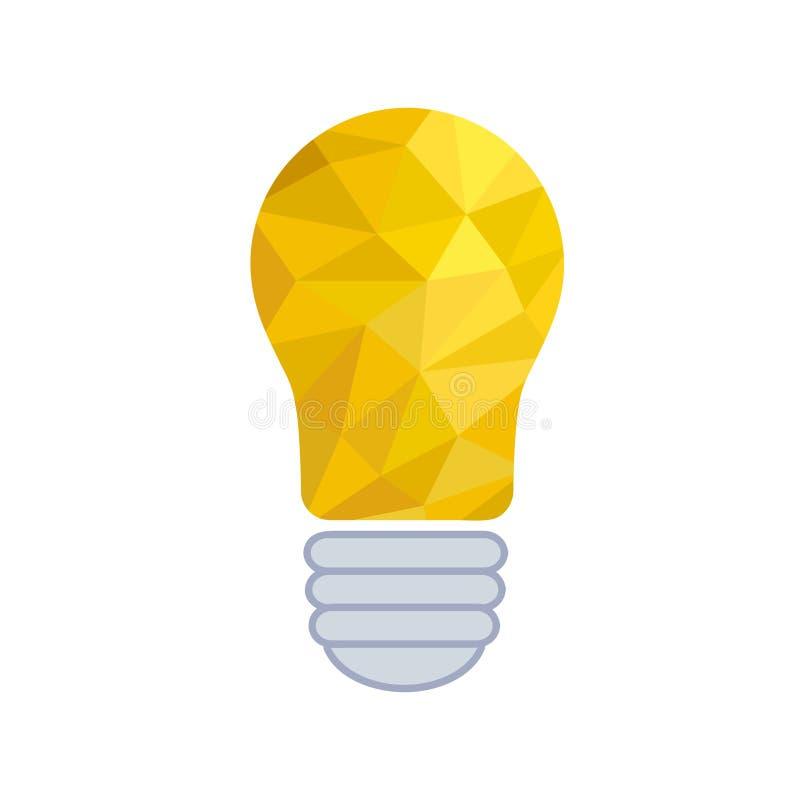 Ampoule de papier chiffonnée - illustrat créatif de vecteur d'aspiration de croquis illustration stock