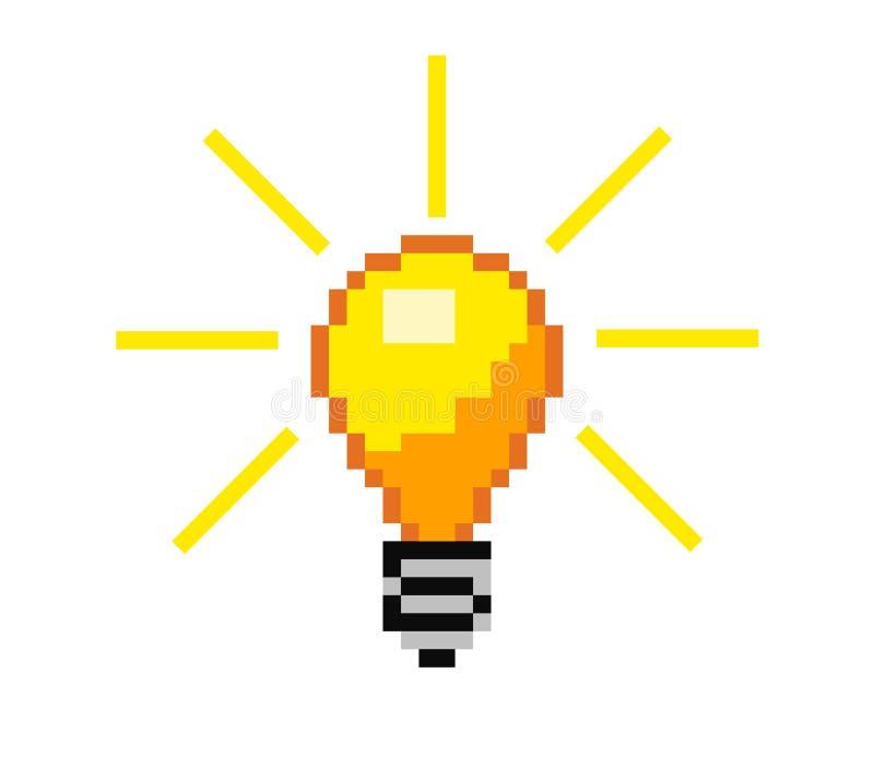 Ampoule de pixel de vecteur illustration libre de droits