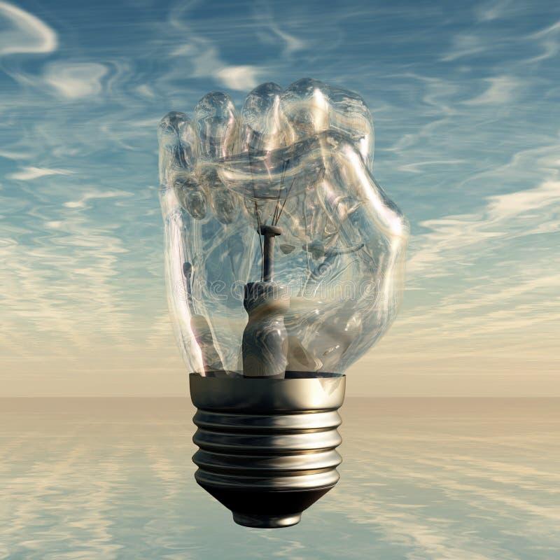 Ampoule de poing illustration de vecteur