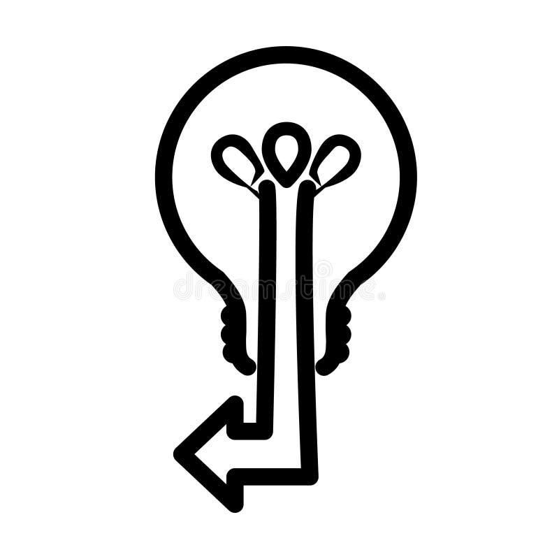 Ampoule de pointe moderne avec une flèche Flèches d'ampoule Concept de stratégie marketing d'affaires d'innovation, infographic I illustration de vecteur
