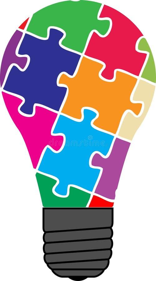 Ampoule de puzzle illustration de vecteur