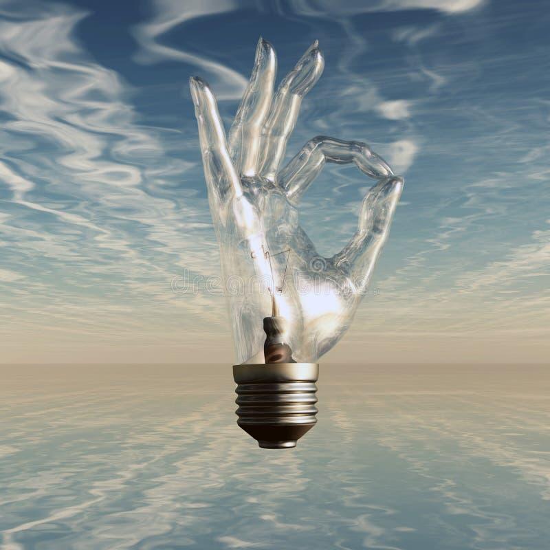 Ampoule de symbole CORRECT illustration de vecteur