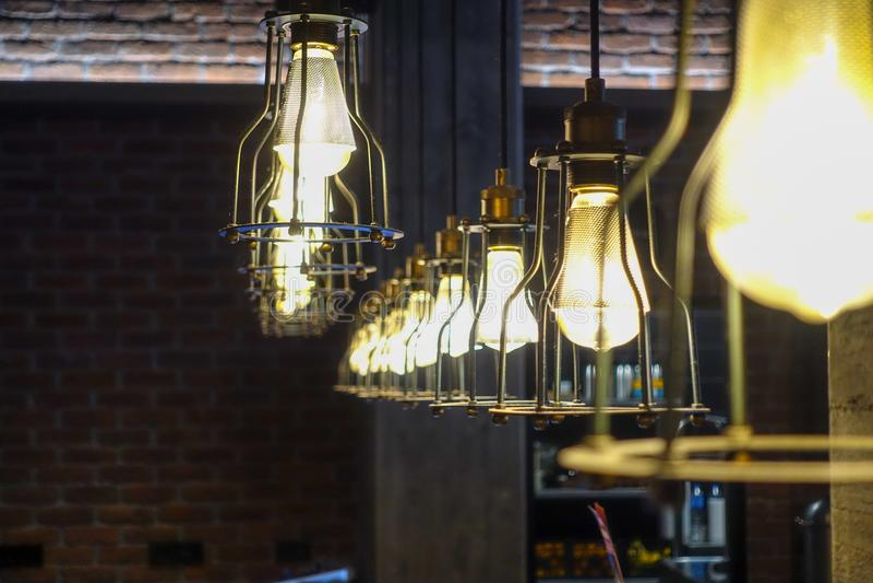 Ampoule et décoration photographie stock