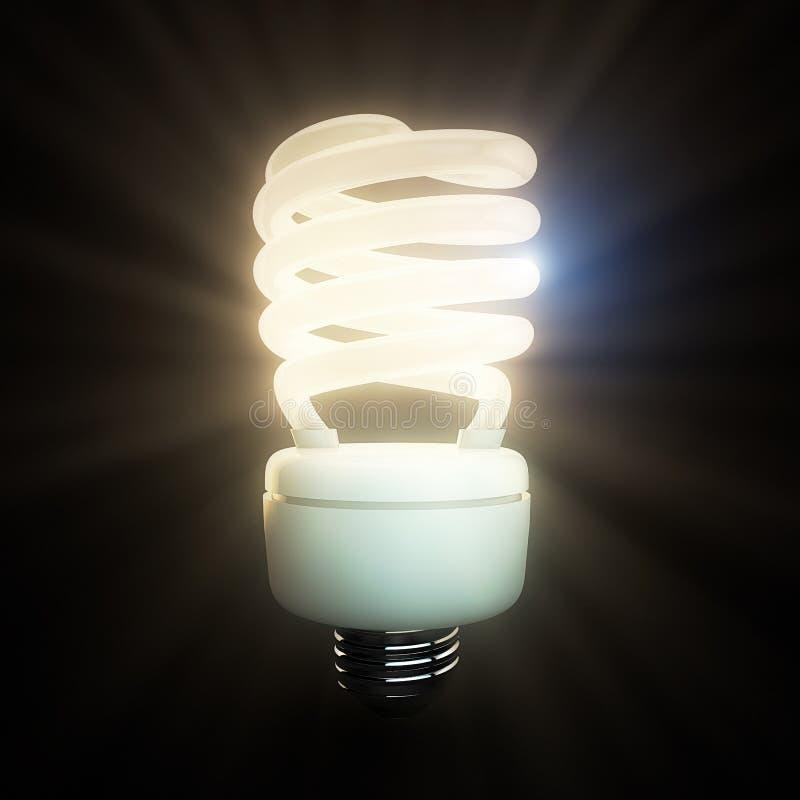 Ampoule fluorescente illustration libre de droits
